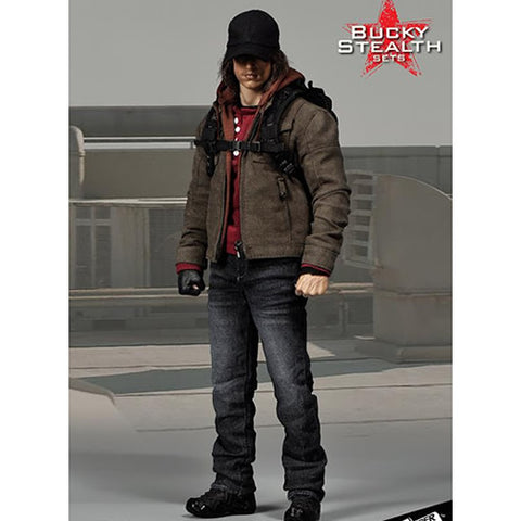 1:6 Male Winter soldier Bucky Casual stealth Custom Set (Outfit only)