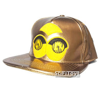 (CLEARANCE) Star Wars - C-3PO Gold Metallic Cap