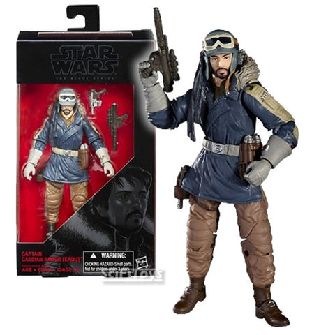 "1:12 6"" Star Wars : Rogue One - Captain Cassian Andor Eadu Figure #23 Wave 7 Black Series Hasbro"