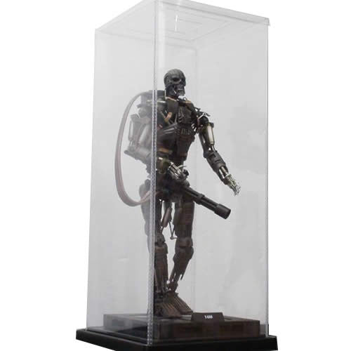 "1:6 Action Figure Clear Display Case with Stand 7"" x 7"" x 17"""