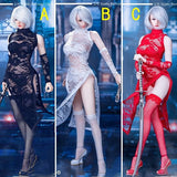 1:6 Female Custom Figure Parts - Lace Cheong Sam Oufit Set
