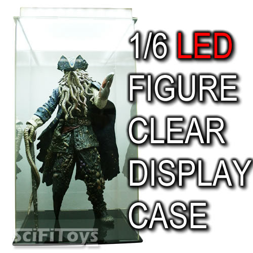 1:6 Action Figure Clear Display Case with LED Light for Hot Toys Sideshow Enterbay Barbie