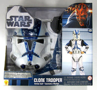 (CLEARANCE) Star Wars - Clone Trooper Costume Action Suit Boxed Child Size M Rubies