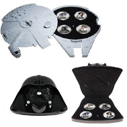 Star Wars - OFFICIAL Silver plated Coin set (4 coins) with SFX storage Case by New Zealand Mint