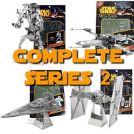 Star Wars - Complete S2 Tie Fighter, X-wing, Star Destroyer and DROID DESTROYER 3D DIY Metal Earth Model Kits