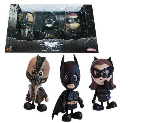 Batman : The Dark Knight Rises - Batman, Bane & Cat-woman Cosbaby Set S Series Hot Toys