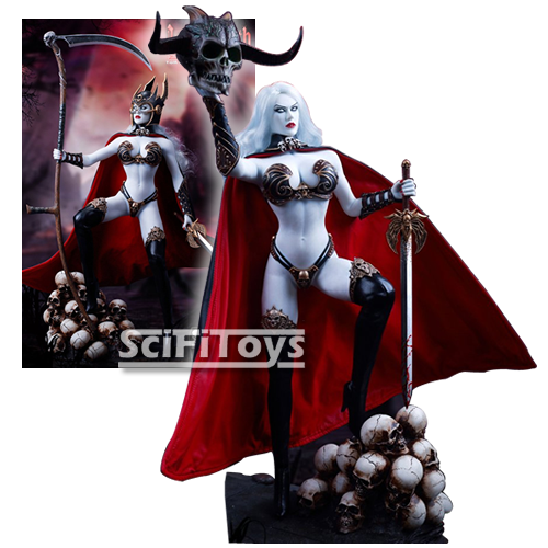 1:6 Lady Death - Death's Warrior Ver 2.0 Female Custom Figure Standard / Deluxe Set Phicen TBLeague