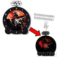 Star Wars - Darth Vader Topper Alarm Clock Glow in the Dark w/ Lights and Sounds