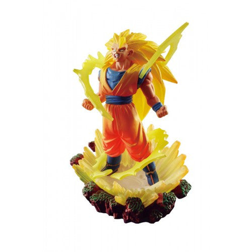 Anime : Dragon Ball Z - Super Saiyan Son Goku Dora Capsule Dracap Memorial Statue Series 3 Megahouse