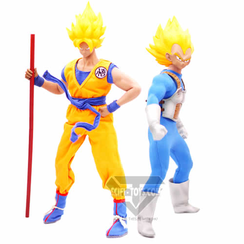 1:6 Dragon Ball Z Anime - Son Goku / Vegeta Super Saiyan Male Custom Figure Set