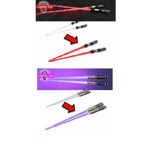 Star Wars - Mace Windu and Darth Vader Light Up Lightsaber Chopsticks Set Kotobukiya