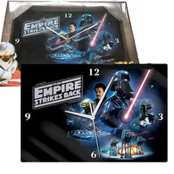 Star Wars The Empire Strikes Back Poster Glass Wall Clock