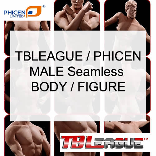 1:6 Super Flexible Steel Male Seamless Body for Custom Figure TB League Phicen