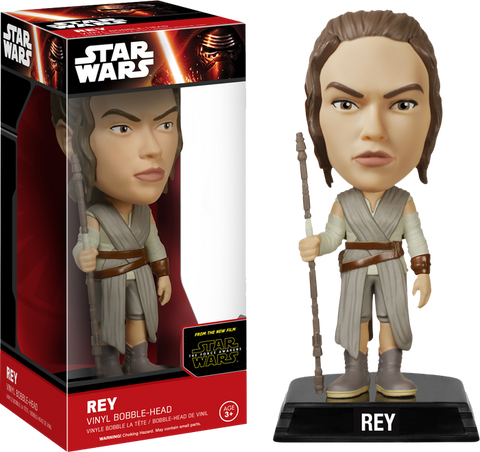 Star Wars : The Force Awakens - Rey Bobble Head Wacky Wobbler Funko