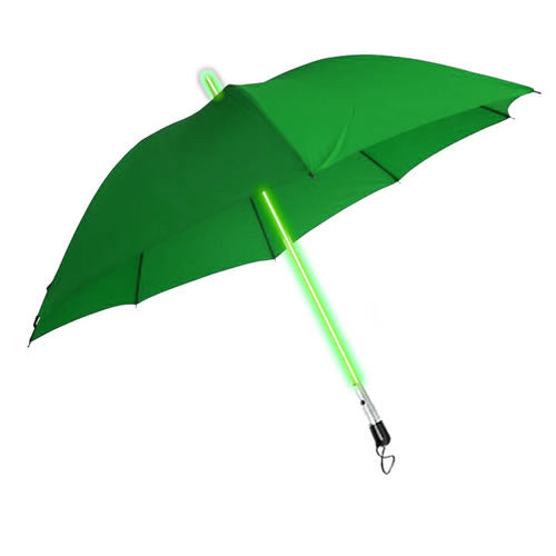 LED Light up Lightsaber Style Umbrella (GREEN)