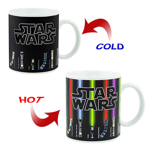 Star Wars  - Official Licensed Lightsaber Heat Changing Mug Cup
