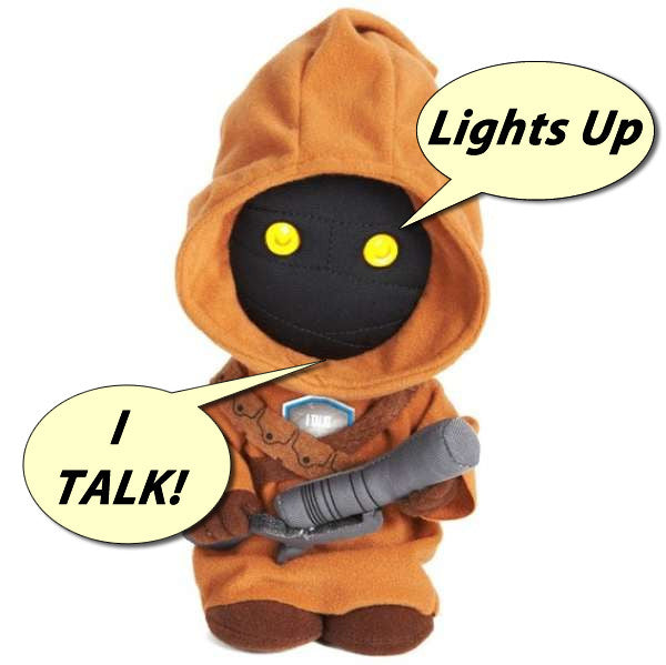 "9"" Star Wars - Jawa Lights Up Talking Plush Toy"