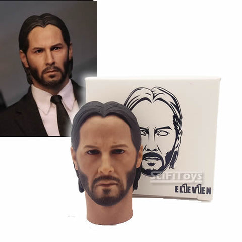1:6 John Wick - Keanu Reeves Custom Head Sculpt Eleven