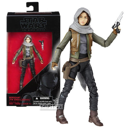 "1:12 6"" Star Wars : Rogue One - Sergeant Jyn Erso (Jedha) Figure #22 Wave 7 Black Series Hasbro"