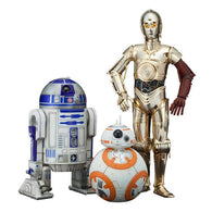 1:10 Star Wars : The Force Awakens - R2-D2 & C-3PO & BB-8 3 Pack Statues ARTFX+ Kotobukiya