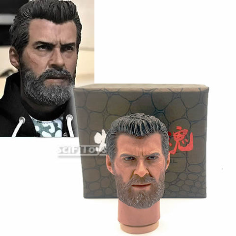 1:6 Logan - Hugh Jackman Wolverine Custom male Head Sculpt by Burning Soul