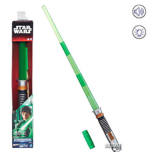 Star Wars : Return of the Jedi - Luke Skywalker Electronic Lightsaber Bladebuilders with Sound and Light Hasbro