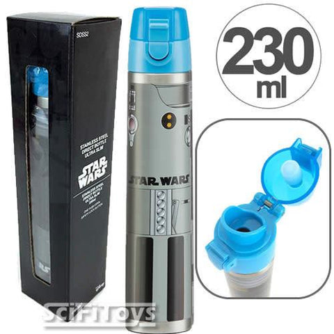 Star Wars - Luke / Obi-Wan Stainless Steel Lightsaber Drinking Flask Bottle 230ml