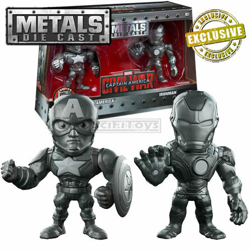 Iron Man & Captain America Metals Diecast Figure Set Jada Toys 2016 Con Exclusive