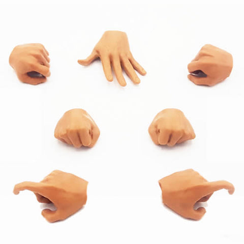1:6 Male Custom Parts : Hands set of 7 (MPH00A)
