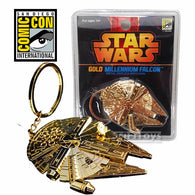 Star Wars - Limited Edition Millennium Falcon Gold Replica Key Chain (COMICON EXCLUSIVE)