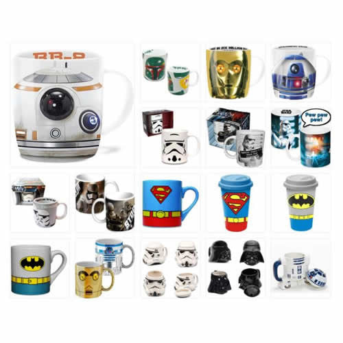 Dc Comics - Official Licensed Assorted Movie Character Ceramic Coffee Cup Travel Mug