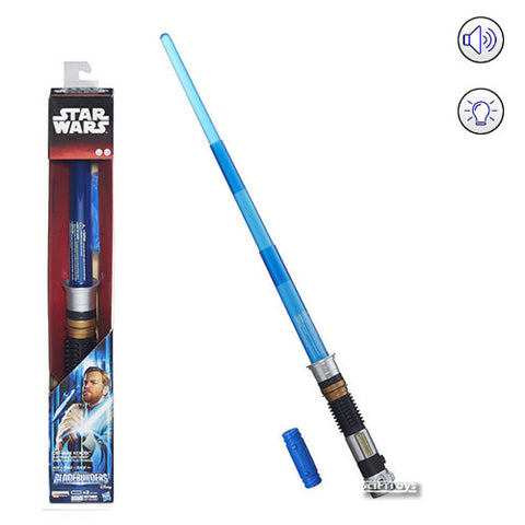 Star Wars : Revenge of the Sith - Obi Wan Kenobi Electronic Lightsaber Bladebuilders with Sound and Light Hasbro