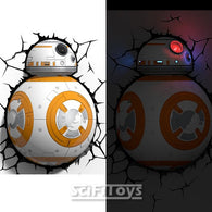 Star Wars - The Force Awakens BB-8 3D FX Deco Wall Light