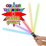 Double-Blade Electronic FX lightsaber with Sound & LED Colour Changing Toy SFX