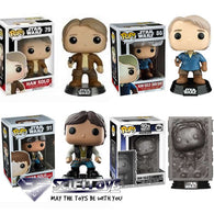 Star Wars - Han Solo Bundle of 4 Pop Vinyl Funko