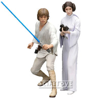 1:10 Star Wars : A New Hope - Luke Skywalker & Princess Leia 2 Pack Statues ARTFX+ Kotobukiya