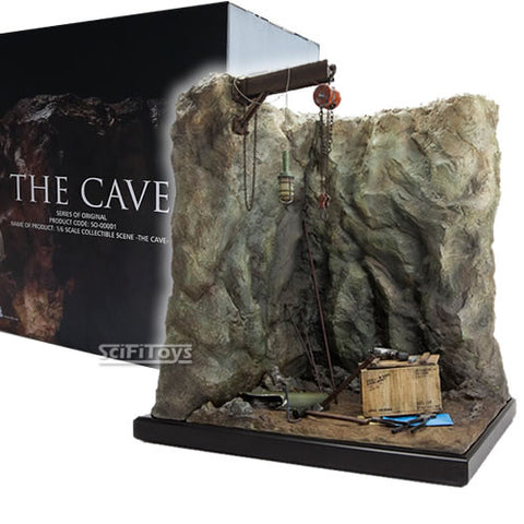 1:6 The Cave Action Figure Wall Diorama with Tools & Tony Stark Oufit Set Exclusive to SCIFITOYS