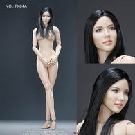 1:6 Female Body Ver 3.0  Set with Asian Head sculpt