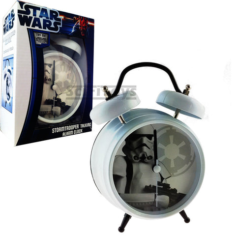 Star Wars - Stormtrooper Clone Twin bell Talking Alarm Clock