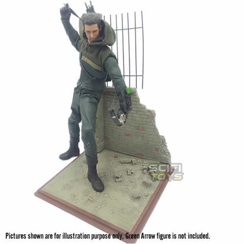 1:6 The War Action Figure Street And Wall Diorama Zytoys