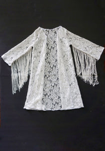 White Floral Lace Duster
