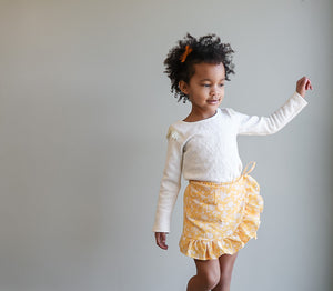 Yellow Ruffled Skort
