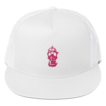 Girl Gas Mask Trucker Cap
