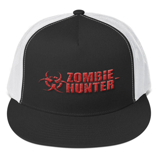 Zombie Hunter Red Embroidered Trucker Cap