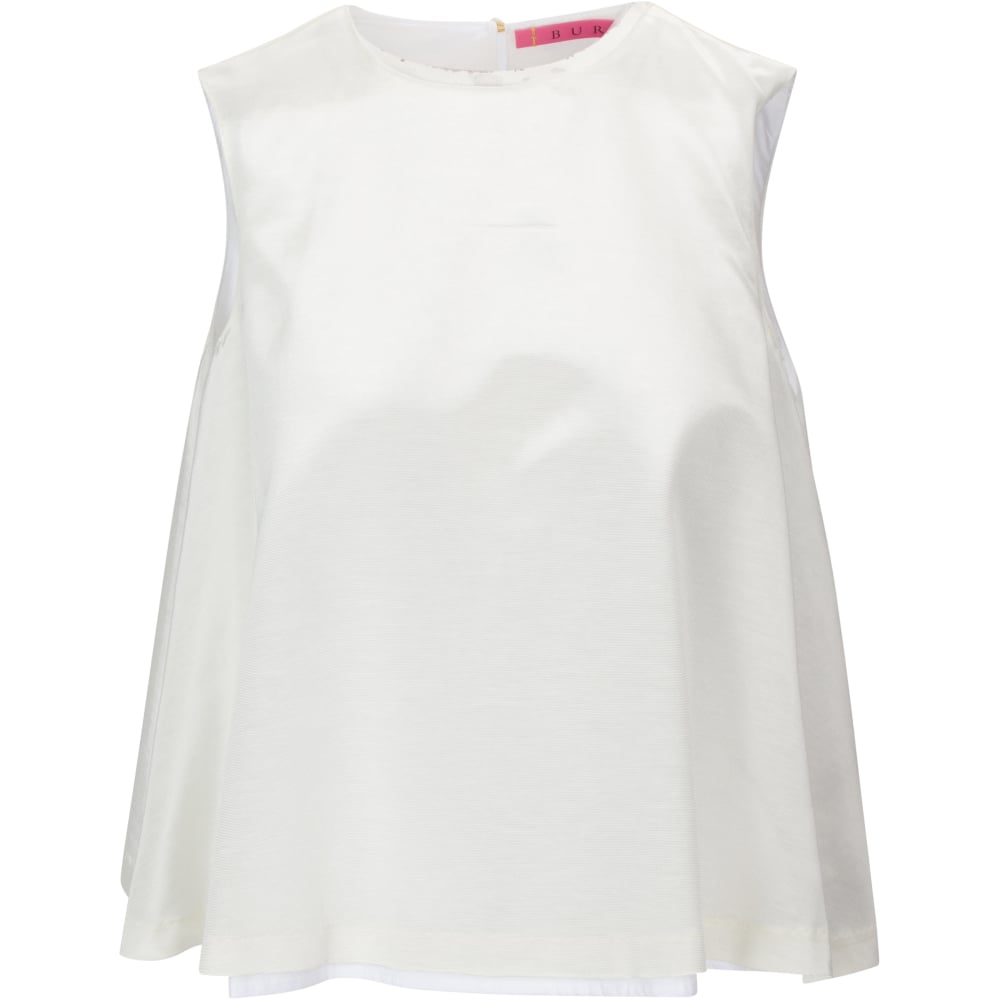 The SIL - Buru - White Faille Swing Top