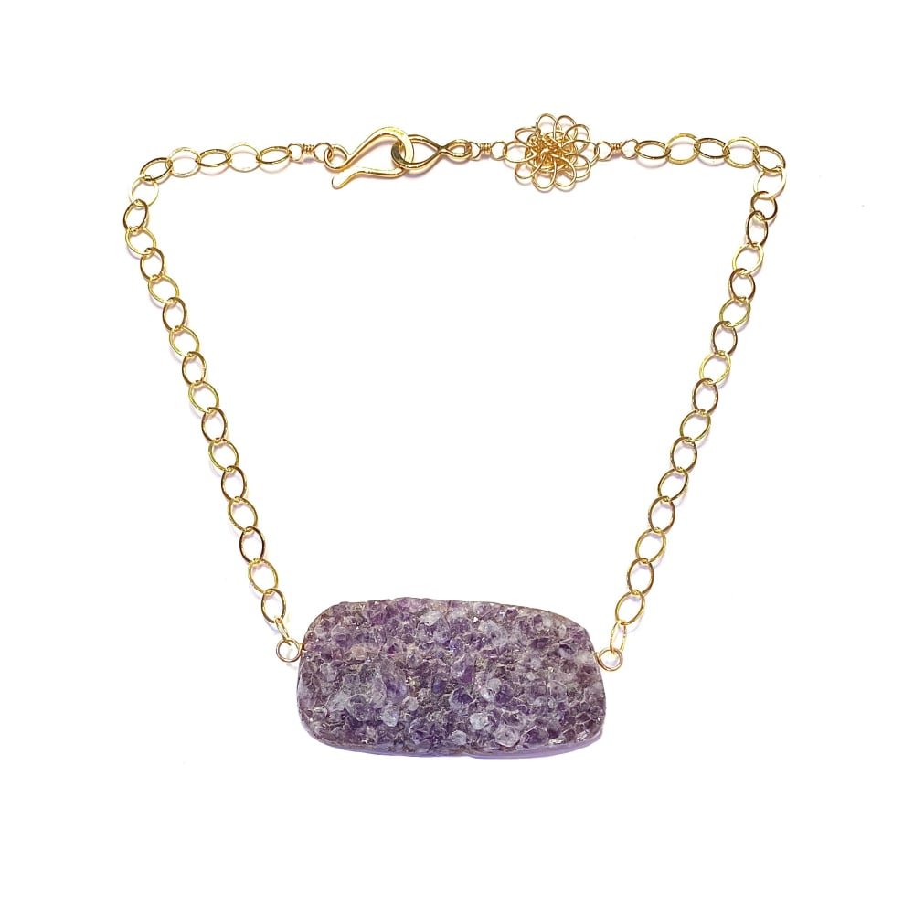 The SIL - Cassandra King Polidori - Dark Amethyst Necklace
