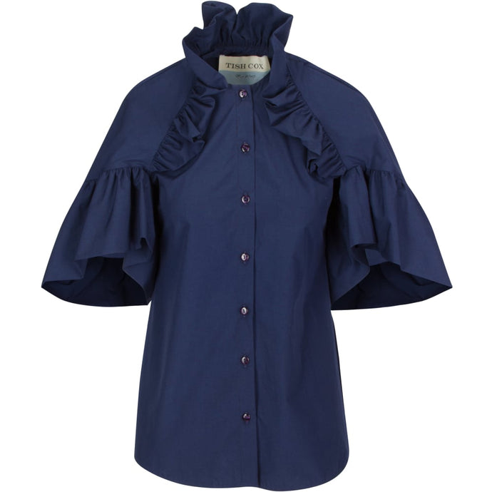 The SIL - Tish Cox - Navy Ruffle Top