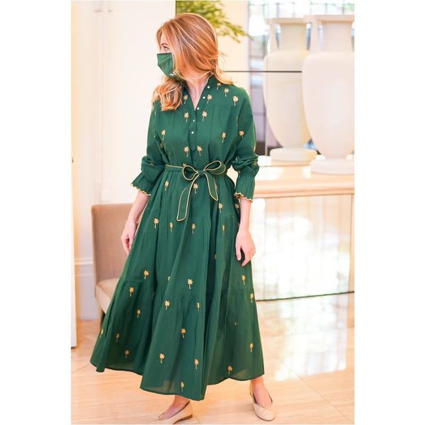 Hunter Green Neha Dress