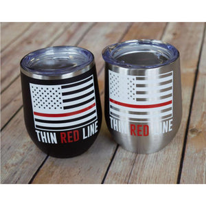 Thin Red Line Wine Tumbler