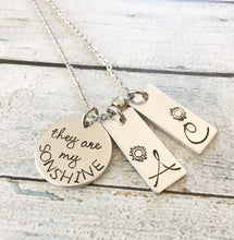 You are my Sunshine - Mother's necklace- Hand